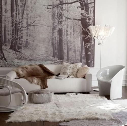 metsä tapetti talvella metsässä tapetti mustavalkoinen puunrunkoja Fund taustakuva valokuvatapetti olohuone