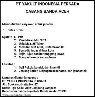 PT.YAKULT INDONESIA PERSADA CABANG BANDA ACEH