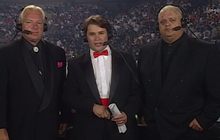 WCW FALL BRAWL 1996 REVIEW: Bobby Heenan, Tony Shiavone, and Dusty Rhodes commentated the event,