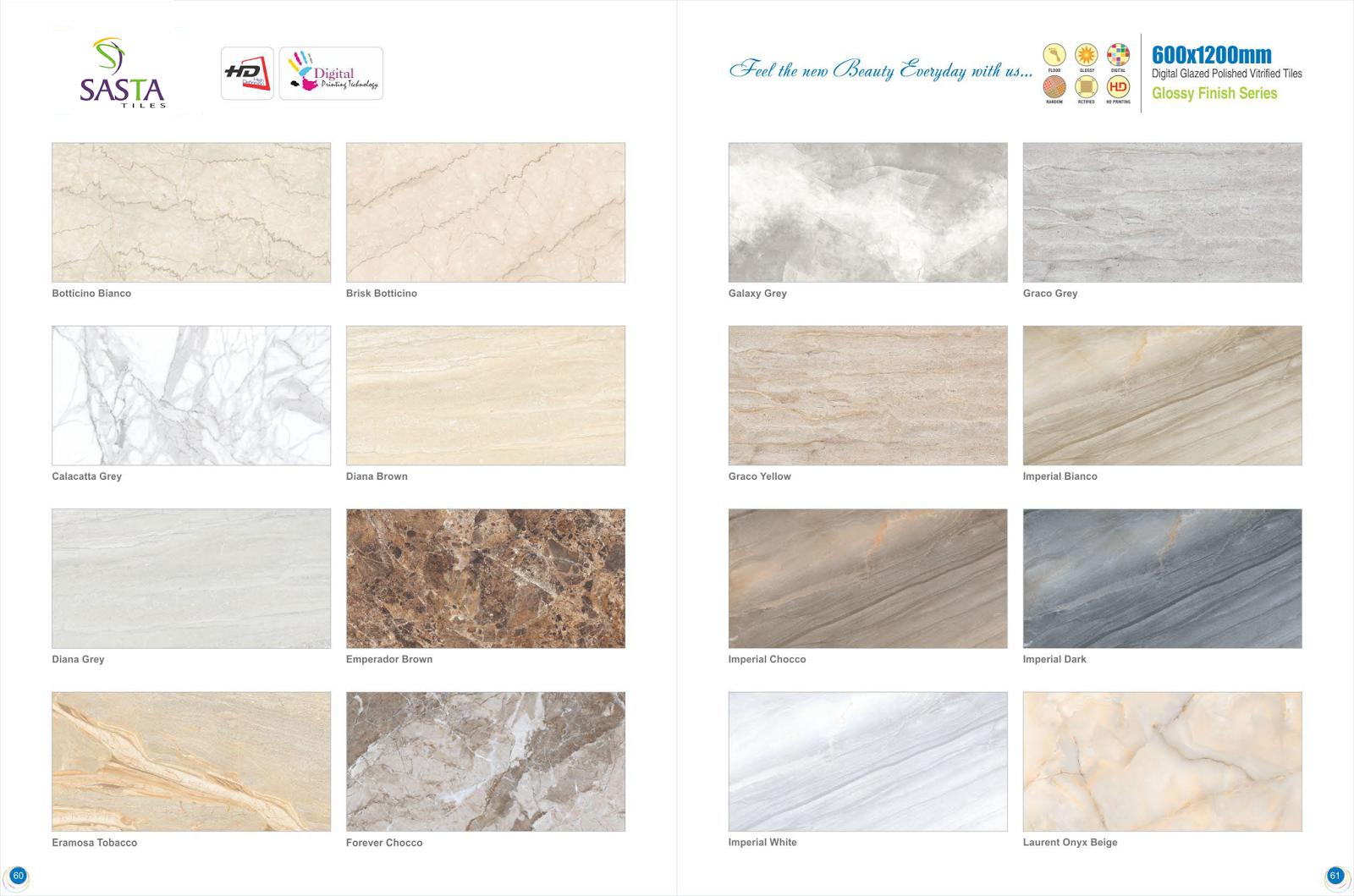 Digital glazed polished vitrified tiles 600 x 1200 mm sasta tiles - Forever tile and stone ...