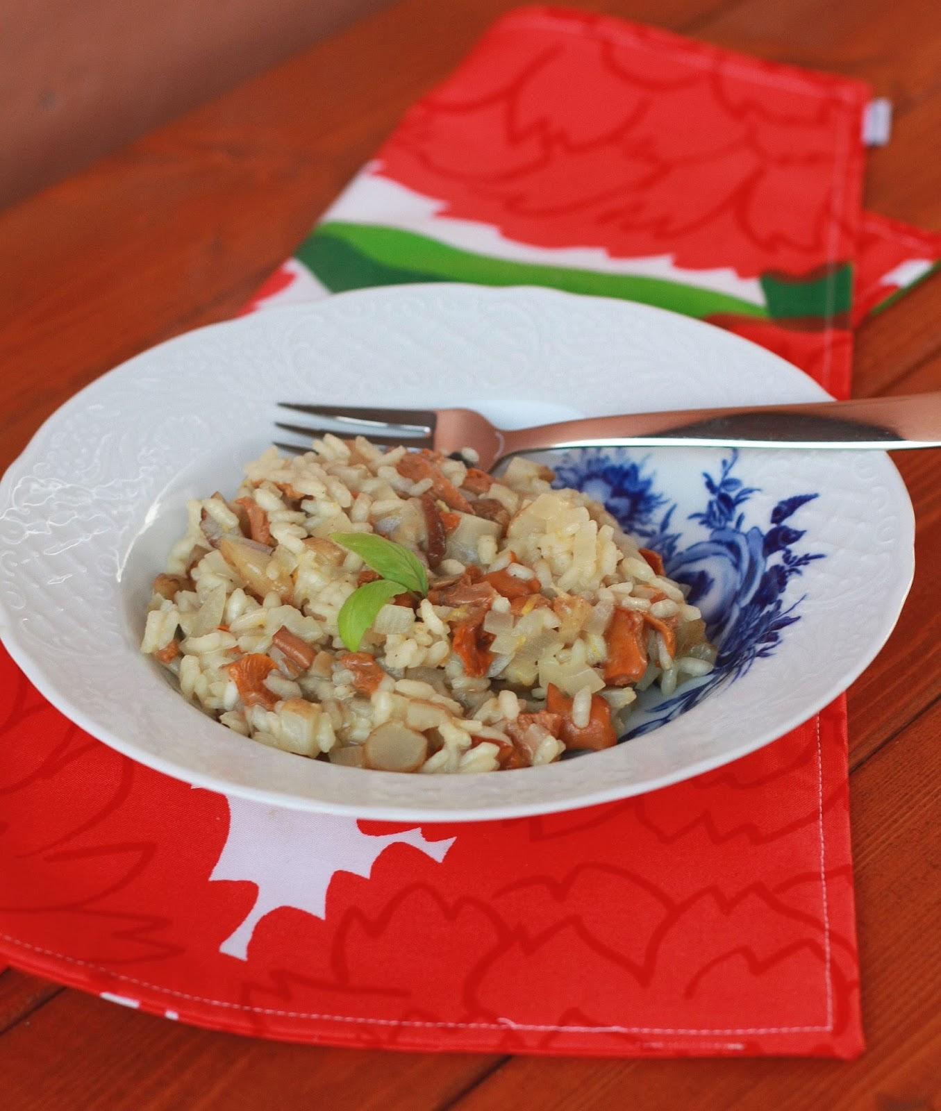 maa-artisokka-kantarellirisotto maa-artisokka kantarelli risotto resepti mallaspulla