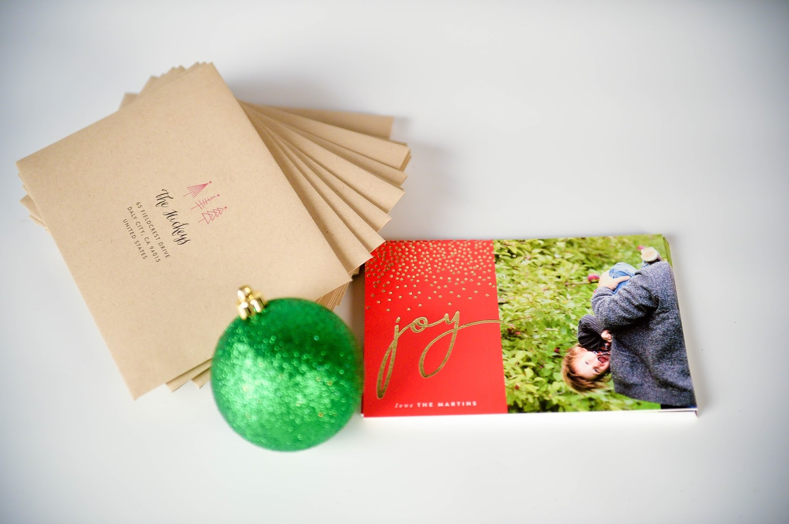 Minted foiled pressed cards