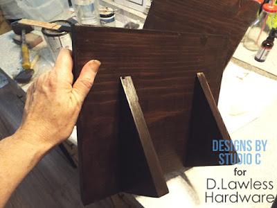 DIY tablet stand - back side
