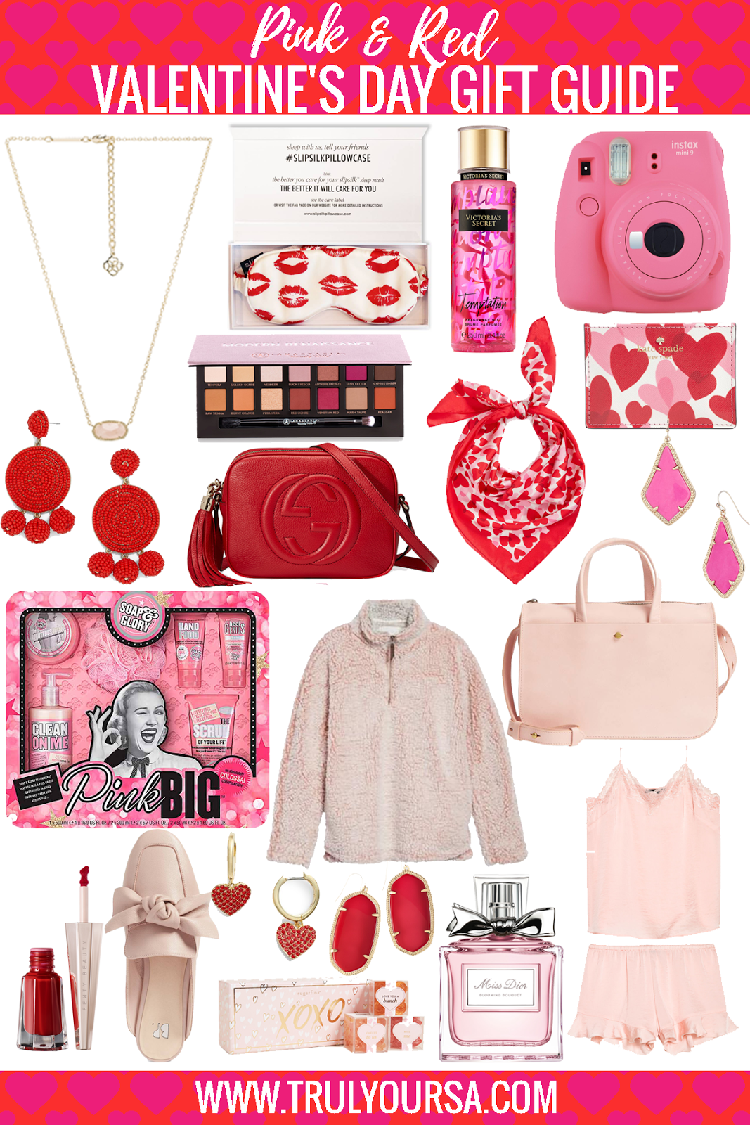 Valentine's Day is right around the corner, so I hope you already have an idea of what to get your sweetheart. If you don't, I have the perfect list of pink and red gifts that are sure to put a smile on her face! #ValentinesDay #giftguide #ValentinesDayGiftGuide