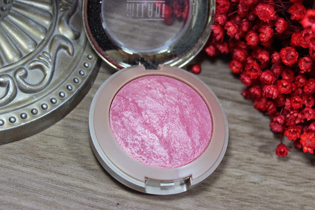 dolce pink, blush, baked, glitter, pó, powder, milani, delicado, maquiagem