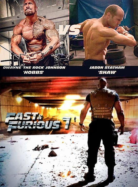 Jason Statham şi Dwayne Johnson pe platourile de filmare Fast And Furious 7