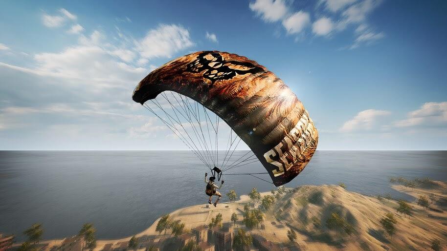 PUBG, Parachute, 4K, #7.789