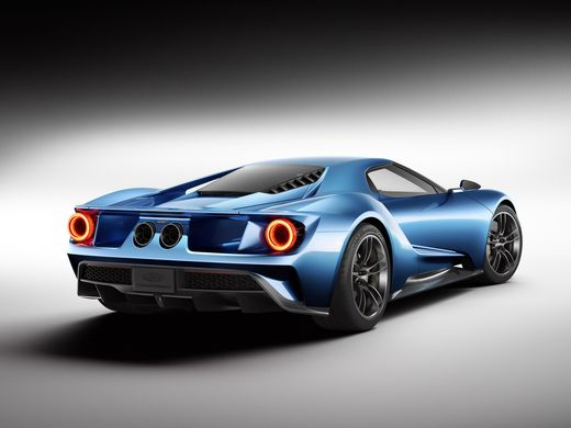 2016 Ford Show new GT supercar at the Detroit  back view