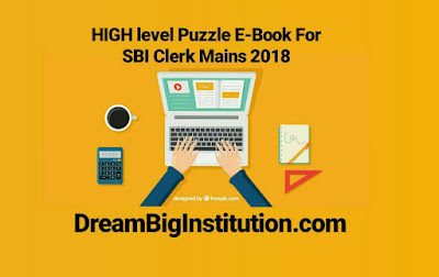 High Level Puzzle PDF Notes For SBI Clerk Mains 2018: Download Now