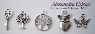ciondoli metallo angelo albero