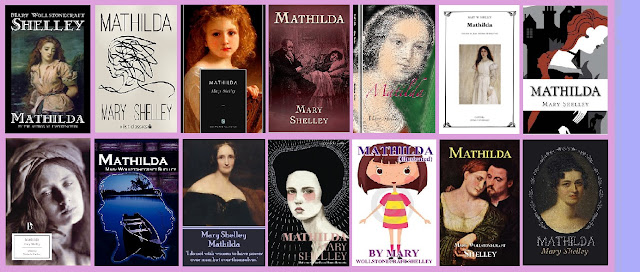 portadas de la novela gótica Mathilda, de Mary Shelley