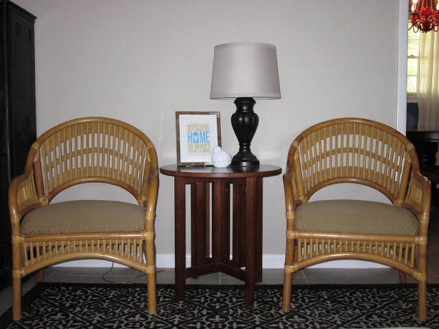 Carry Grace: A Simple Painted Project - Rattan Chair