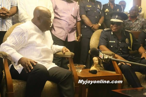 IGP pays Akufo-Addo a visit; pledges loyalty to him