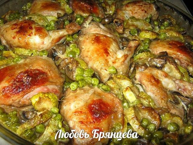 грибное жаркое по домашнему рецепт с курицей