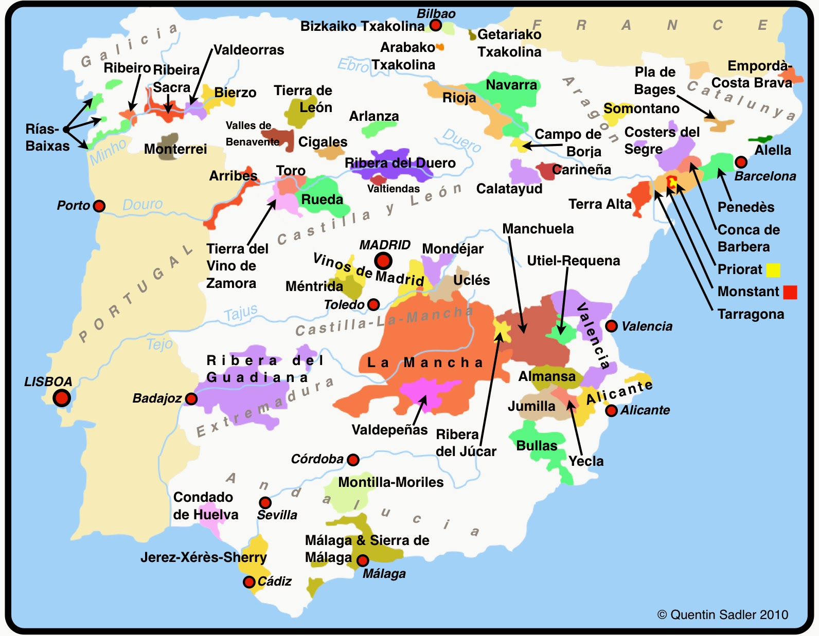 mapa espanha andaluzia In Vino Viajas : Enoturismo inteligente na Andaluzia, Espanha  mapa espanha andaluzia