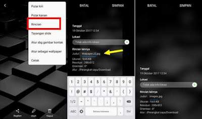 cara ubah nama file gambar/video di galeri android