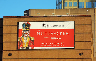 The Nutcracker (billboard at the Wortham Center)