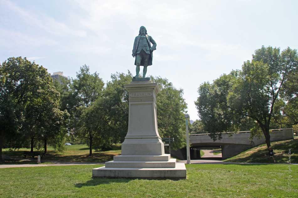 Public Art In Chicago Lincoln Park Benjamin Franklin