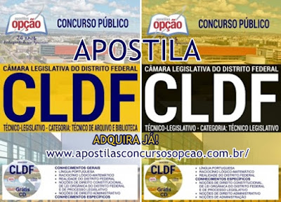 Apostila Técnico Legislativo CL-DF - Câmara Legislativa do Distrito Federal 2017