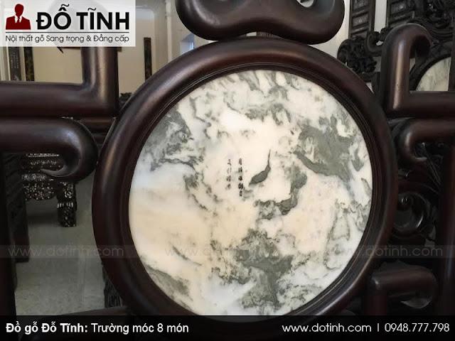 Trường móc 8 món gỗ gụ mật - Bộ bàn ghế trường kỷ cổ đẹp Việt Nam