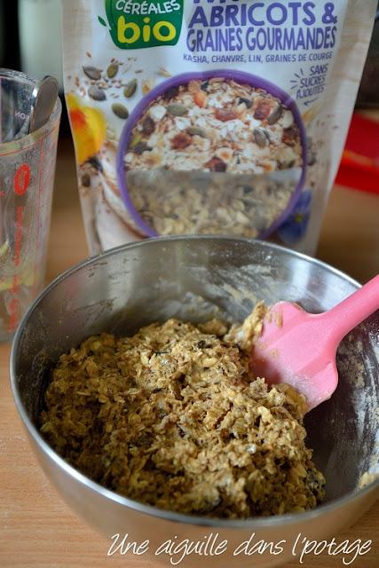 Muesli cookies à la compote de pomme (vegan) terre et céréale bio