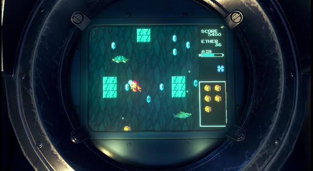 Xenoblade Chronicles 2 Direct Tiger Tiger minigame diving underwater 8-bit classic retro NES
