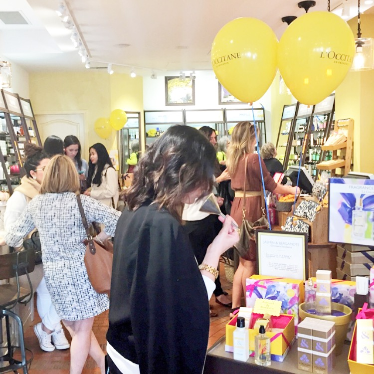 L'Occitane Granville Street event hosted by Vancouver blogger Covet and Acquire
