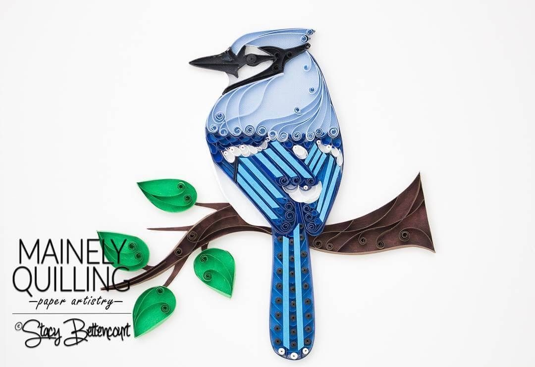 13-Blue-Jay-Stacy-Bettencourt-Quilling-Animals-and-Game-of-Thrones-www-designstack-co