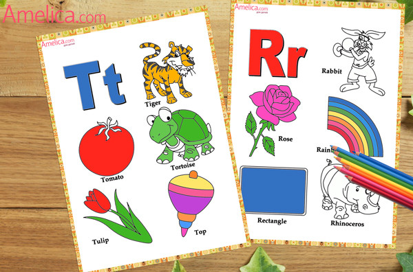 Amelica.com for kids: Английский алфавит раскраска для ...