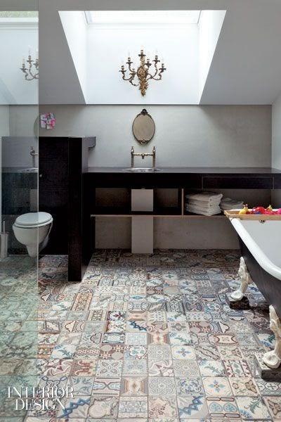 To Da Loos Patchwork Tile Bathroom Floors