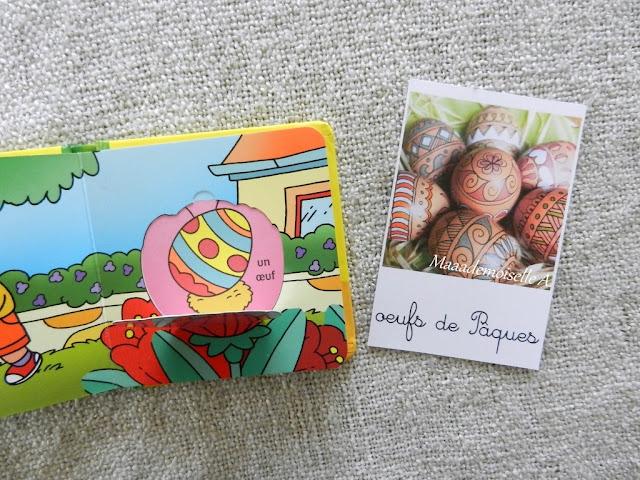|| Nos activités de Pâques association cartes de nomenclature et livre à rabats Pâques