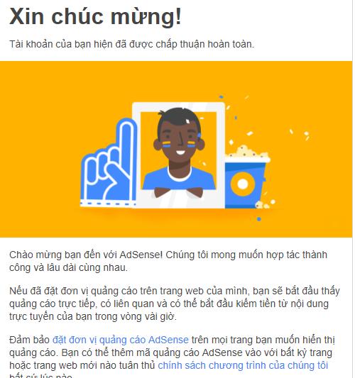 Chia sẻ cách đăng ký thành công Google adsense 2018 cập nhật