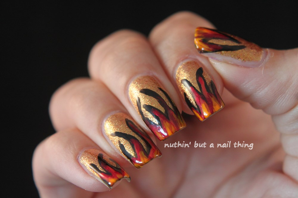 nuthin' but a nail thing: Flame nail art