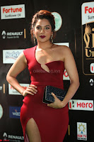 Natasha Nebasha in a Leg Slit Sleeveless Stunning Red Gown at IIFA Utsavam Awards 2017 078.JPG