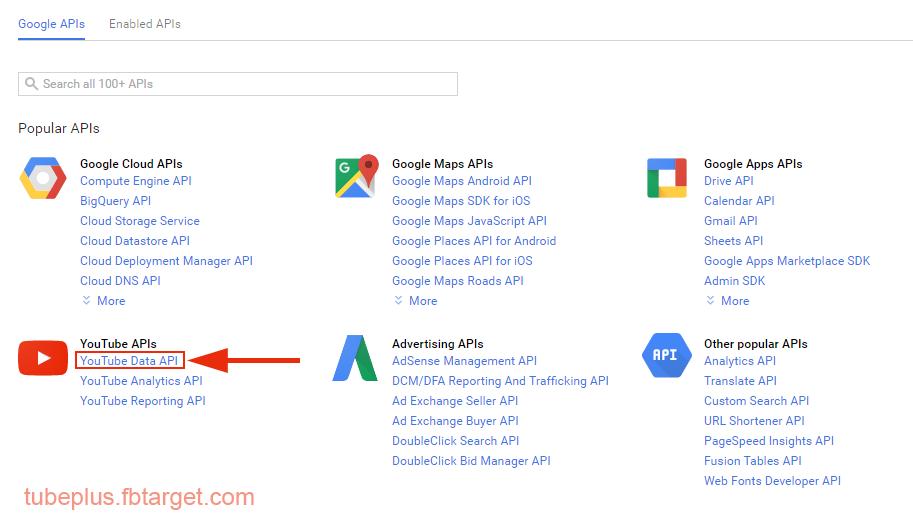 Hướng dẫn tạo Google console app - tubePlus