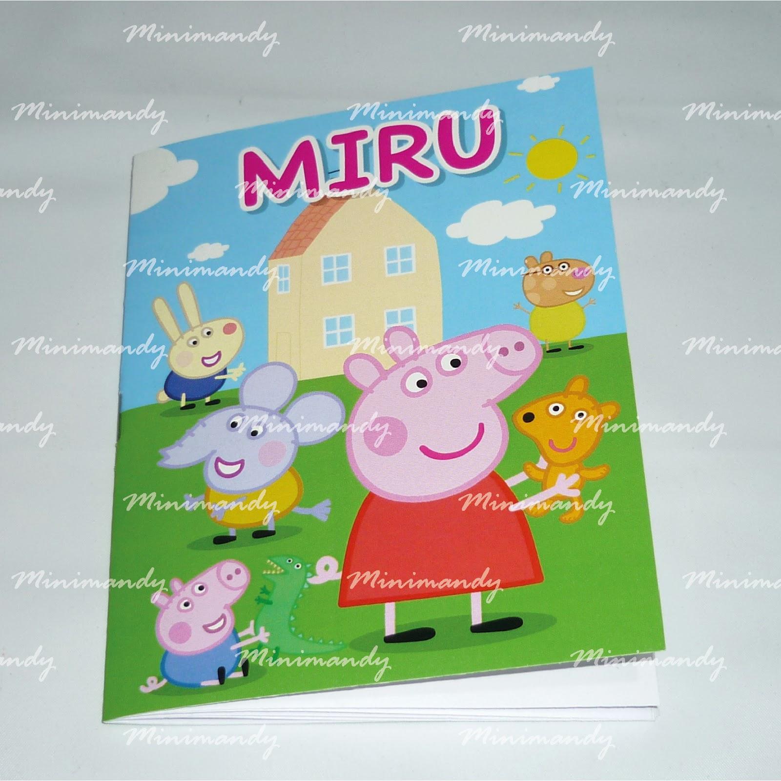 MinimandySign: Libros para colorear personalizados - Peppa Pig