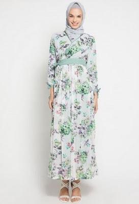 Model Baju Batik Kombinasi Sifon modern