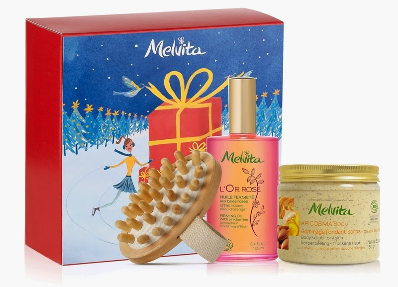 Firming L'Or Rose, L'Or Rose Firming Oil, Apicosma Nourishing Body Scrub, Body Massager, Melvita Christmas Gift Sets, Melvita, Melvita Malaysia, Christmas Set, Christmas Gift