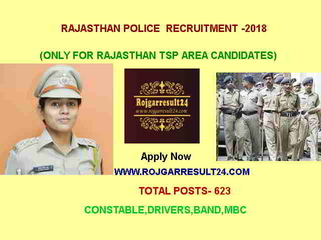 RAJASTHAN POLICE  RECRUITMENT-2018,Drivers, Band,Constable,rojgarresult24.com