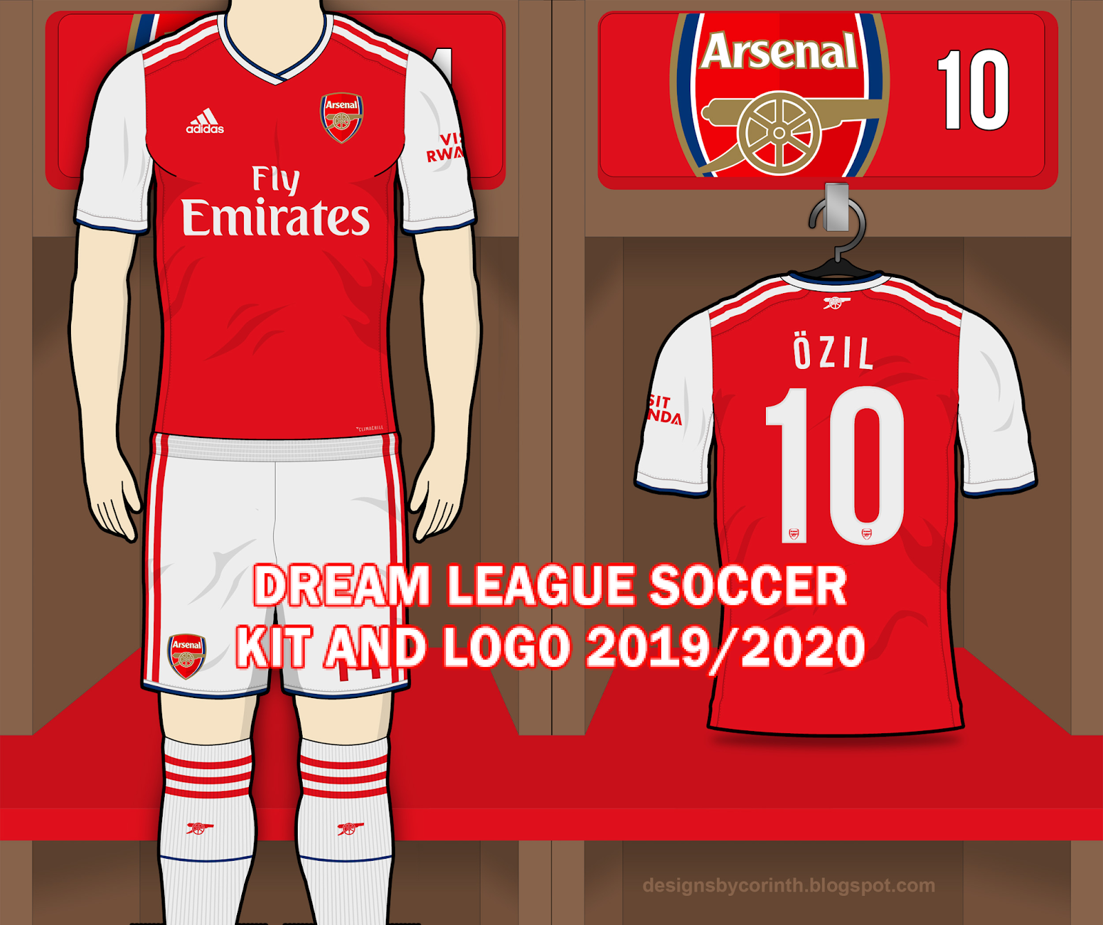 online store 1cbd6 296f8 Arsenal FC 2019/2020 Dream League Soccer Kit and Logo ...