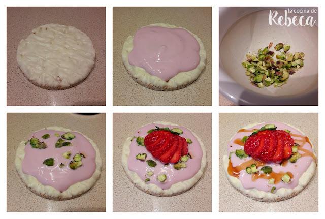 Cómo hacer tortitas de arroz con fruta y yogur