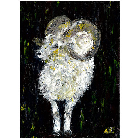 "Bighorn sheep- 5""x7"" Art Card"