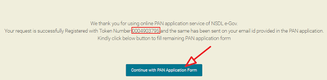 continue with pan application form