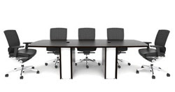 White Glass Conference Table