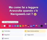 Creare stato con sfondo su Facebook, con adesivi, emoji, colori e scritte grandi