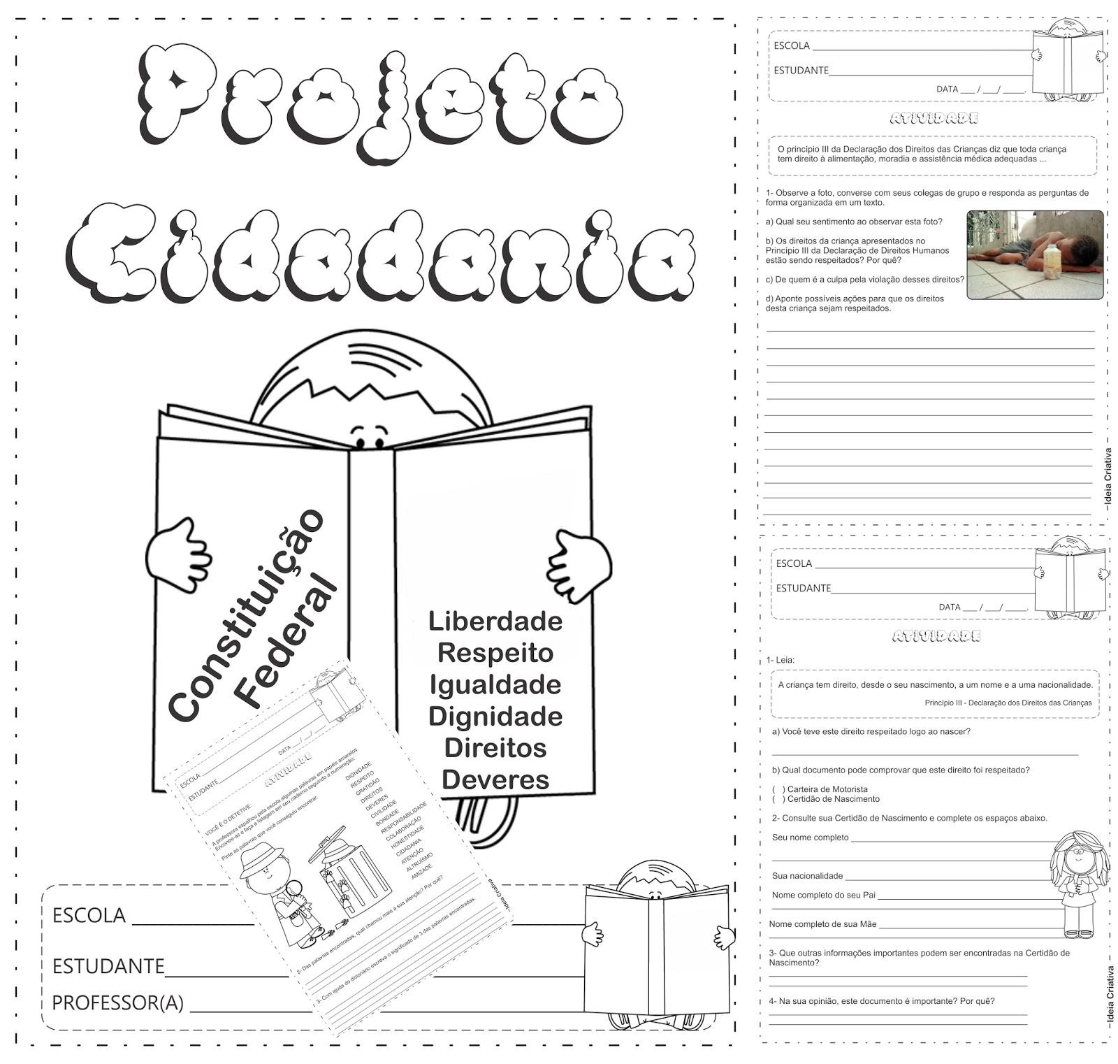 Caderno de Atividades Projeto Cidadania Fundamental I