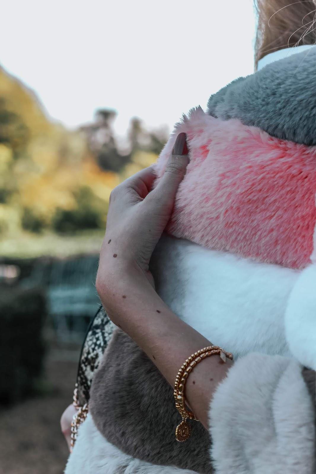 Bandits Amy Striped Faux Fur Jacket 2018
