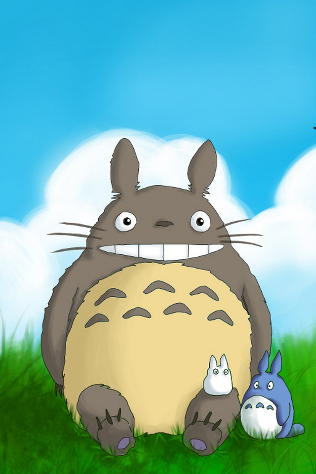Totoro download iphone ipod touch android wallpapers - Totoro wallpaper iphone ...