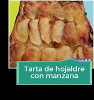 TARTA DE HOJALDRE CON MANZANA
