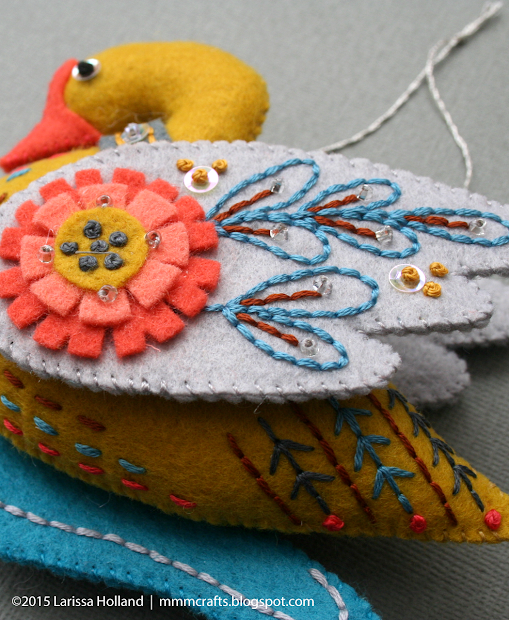 Mmmcrafts Handmade 2015 Swan -swimming And Two